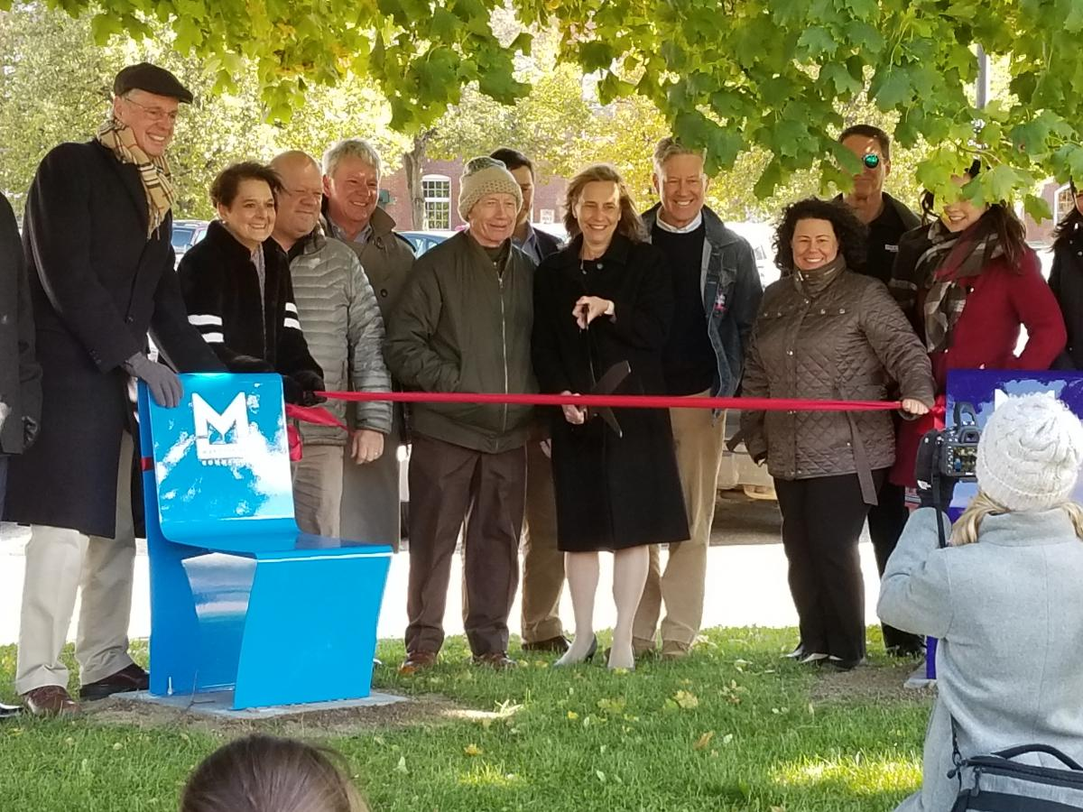 Arms Park ribbon cutting (Oct 2018)
